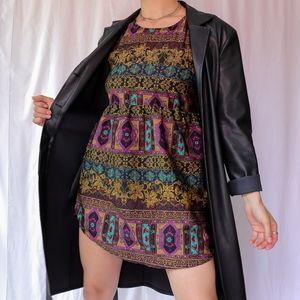 Purple mustard patterned relax fit RVCA tank dress